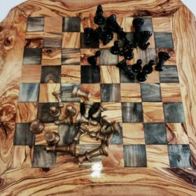 wooden chess set board