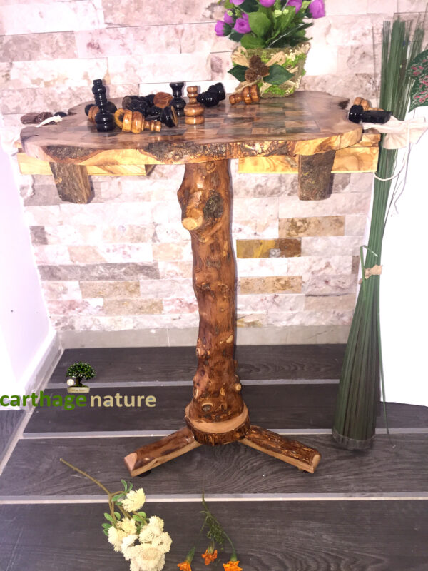 wooden chess set board with stand